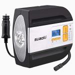 Suaoki 12V Dc Tire Inflator Electric Portable Auto Air Compressor Pump To 100PSI For Car Truck Bicycle Basketball