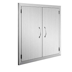 Happybuy Bbq Access Door Double Wall Construction 24W X 24H Inch Outdoor Kitchen Access Doors 304 Grade Brushed Stainless Steel Heavy Duty