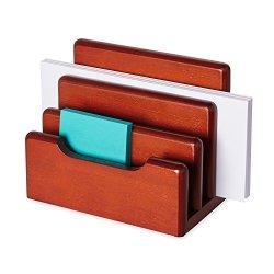 Sanford Rolodex 23420 Wood Tones Desktop Sorter Mahogany