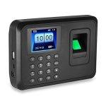 Hfeng 2 4 Inch Biometric Fingerprint Attendance Machine USB Finger Scanner  Time Card Locker Free Software Password Employee Chec