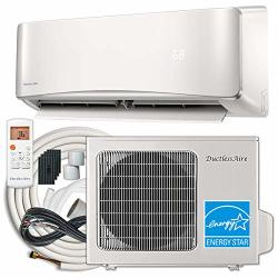 DuctlessAire Energy Star Ductless MINI Split Air Conditioner And Heat Pump Variable Speed Inverter 220V 25FT Installation Kit 12000 Btu 22 Seer