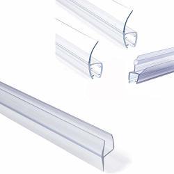 Shower Glass Door Seal Frameless Shower Door Bottom Seal Shower Door Sweep Rubber Plastic Shower Screen Seal Strip For 6MM 8MM 1