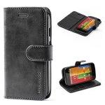 Mulbess Moto G 1ST Gen Case Leather Case Flip Folio Book Case Money Pouch Wallet Cover With Kick Stand Motorola Moto G 1ST Gener
