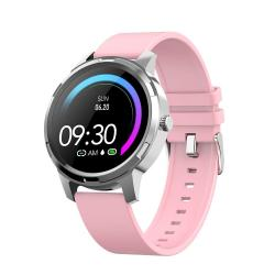 X20 1.3 Inch Full Circle Tft Screen Smart Sport Watch IP67 Waterproof Support Real-time Heart Rate Monitoring Sleep Monitoring Bluetooth Alarm Clock Pink