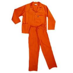 Pinnacle Size 34 Polycotton Safety Overall in Orange