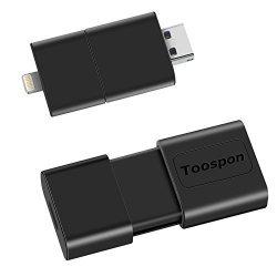 Toospon -hyk 3 In 1 Iphone Ipad Android Smart Phone Computer Laptop Tv Car Player External Storage Lightning usb micro USB Flash Drive 256GB 128GB 64GB 32GB For