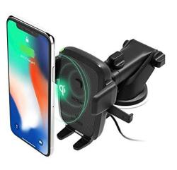 IOttie Easy One Touch Qi Wireless Fast Charge Car Mount For Samsung Galaxy S9 S9 Plus S8 S7 S7 Edge Note 8 5 & Standard
