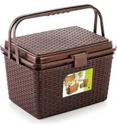 Nakoda Multipurpose Picnic Basket With Lid Lock- Small