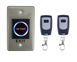 No Touch Infrared Door Exit Push Release Button Switch W remote Control For Access Control