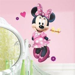 Mickey & Friends - Minnie Bow-tique Peel & Stick Giant Wall Decal By Roommates
