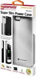 Promate iPhone 5 Slim-fit Cutaway Design Case with In-built 2600mAh Battery in Silver