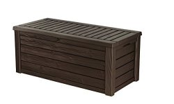 Keter Westwood 150 Gallon Resin Large Deck Box For Patio Garden Furniture Outdoor Cushion Storage Pool Accessories And Toys Brow