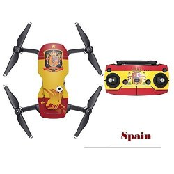 RCGEEK 2018 Fifa World Cup Skin Sticker For Dji Mavic Air Drone And Remote Controller Decal Newest Decoration For Soccer Fans Spain