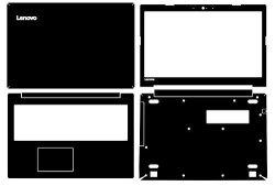 1caf59659d11 Baiyunjian Special Laptop Black Carbon Fiber Vinyl Skin Stickers Cover  Guard For Lenovo Ideapad 320-15 15IKB 15IAP 15ABR 15.6   R1225.00   Other  ...