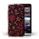 STUFF4 Phone Case Cover For Blackberry Z30 Retro Floral Design Red Fashion Collection