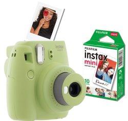 Fujifilm Instax MINI 9 Value Bundle - Lime Green