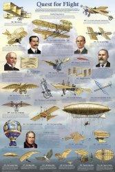 Feenixx Publishing Laminated Quest For Flight Poster