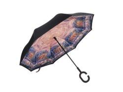 Reversible Umbrella With Design - Winter Wonderland