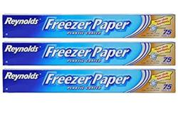 Reynolds Freezer Paper Plastic Coated 16 2 3 Yds X 18IN Roll 75SQ Ft. Pack Of 3