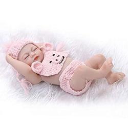 Pinky Lifelike 26CM 10 Inch MINI Full Body Soft Silicone Baby Reborn Baby Dolls Realistic Newborn Baby Girl Dolls Handmade Toy C