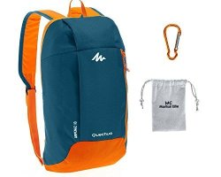 13eeaf2136d Decathlon Quechua Arpenaz Kid adult Outdoor Backpack MINI Small Daypack 10L  With Carabiner Clip Blue orange