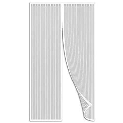 Sodkk Magnetic Insect Door Screen 49X80INCH White Heavy Mesh Curtain Fiberglass Mesh Ventilation For Front & Back Door Home Outside