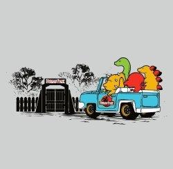 "B&A Human Park"" Dinosaur Movie Parody Vinyl Sticker"