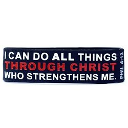 SayitBands I Can Do All Things Through Christ Wristband Philippians 4:13