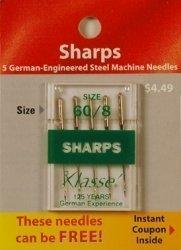 Klasse' Sharps Threading Needles 60 8