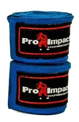 Pro Impact Boxing mma Handwraps 180 Mexican Style Elastic 1 Pair Blue