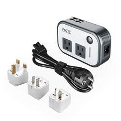 Foval Power Step Down 220V To 110V Voltage Converter With 4-PORT USB International Travel Adapter For UK European Etc - Use For