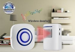 SZ OSHILEY Infrared Motion Sensor Alarm Entry Alert Vistor Doorbell Home Security Driveway Kit