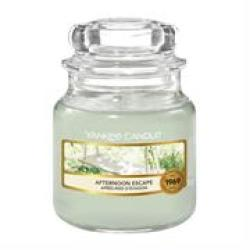 Yankee Candle Afternoon Escape Small Jar Retail Box No Warranty product Overview:take A Stroll Through The Woods With This Beautiful Afternoon Escape Candle From The