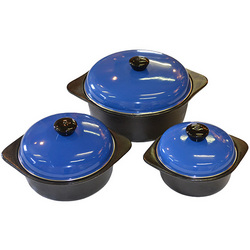 Cordon Bleu 6pc Cast Iron Cookware Set In Blue
