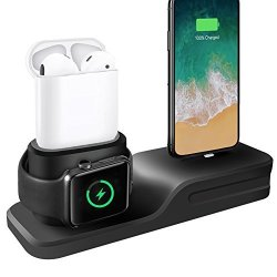 cd363daa485 KEHANGDA 3 In 1 Iphone Airpods Apple Watch Charging Stand Charger Dock  Station Silicone Support Apple Watch Series 3 2 1 AIRPODS IPHONE X 8 8 PLUS  7 7 PLUS ...