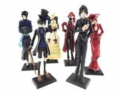 5 12CM New Japan Anime Black Butler Kuroshitsuji Action Figure Ceil Set Of 6