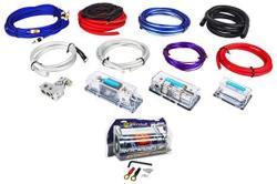 Rockville RDA4+8K Dual 4 8 Awg Multi-amp True Gauge Wire KIT+4 Farad Capacitor
