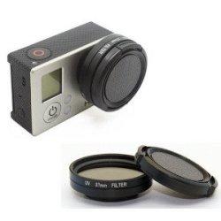 Action Mounts Gopro 4 3+ 3 Uv Filter & Lens Cover