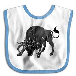 Taurus Zodiac Sign The Bull Cyber Monday Kids Baby Cute Feeding Snap Buttons Cotton Saliva Towel Lunch Bibs