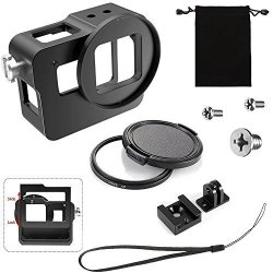YANTAIANJANE Camera Accessories Housing Shell CNC Aluminum Alloy Protective Cage with Insurance Frame for GoPro Hero //7 Black //6//5 Black Color : Blue 2018