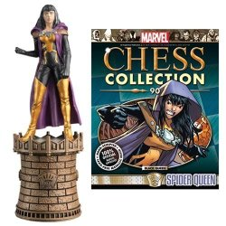 Eaglemoss Publications Marvel Amazing Spider-man Spider-queen Black Queen Chess Piece With Collector Magazine 90