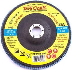 Tork Craft Flap Disc Zirconium 180mm 60grit Angled