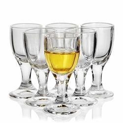Reatr 11ML 0.4OZ Unique MINI Wine Shot Glasses Set Of 6