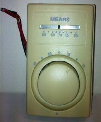 MEARS M601WT Sp Thermostat Ivory