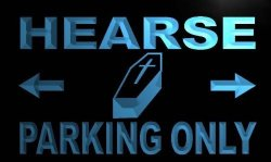 ADV PRO Hearse Parking Only LED Sign Neon Light Sign Display M360-B C