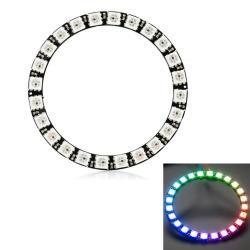 Ldtr - Y00024 WS2812B 5050 LED Smart Rgb Ring 66MM 24 Bit For Arduino - Black