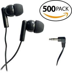 Smithoutlet 500 Pack Classroom Student Testing Headphones Earbuds In Bulk