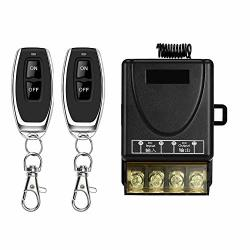 DONJON Wireless Remote Switch With 328FT Long Range Dc 12V-72V For Anti-theft Alarms Security Systems Roller Lind Door Gate Barr