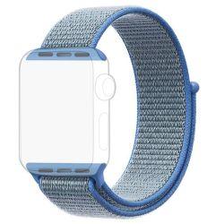 Blue Apple Watch Strap Band Nylon Loop 42 44MM - Series 1 2 3 4