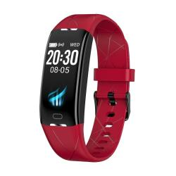 Z21 Plus 0.96 Inch Tft Lcd Color Screen Smart Bracelet IP68 Waterproof Support Call Reminder Heart Rate Monitoring Sleep Monitoring Multiple Sport Mode Red